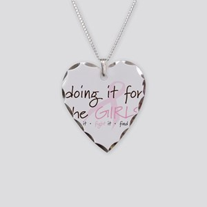 Breast Cancer Awareness Shirt Necklace Heart Charm