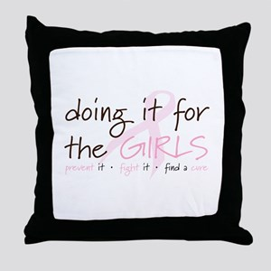 Breast Cancer Awareness Shirt Throw Pillow