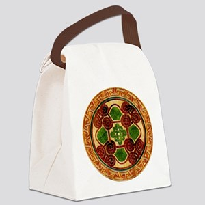 Harvest Moons Celtic Mandala Canvas Lunch Bag