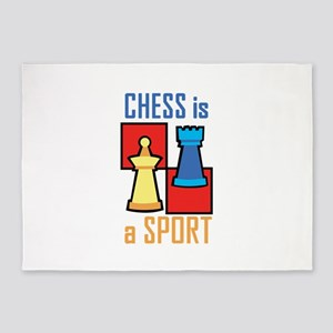 Chess is a Sport 5'x7'Area Rug