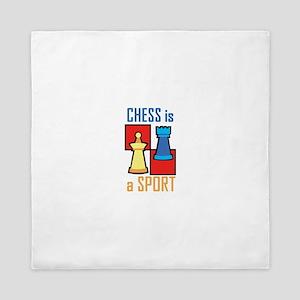 Chess is a Sport Queen Duvet