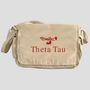 Theta Tau Fraternity Name and Symbol Messenger Bag