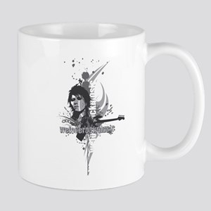 We love rock music gray Mugs