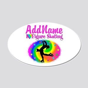FIGURE SKATER 20x12 Oval Wall Decal