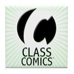 Class Comics Green Tile Coaster