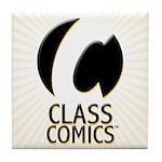 Class Comics Orange Tile Coaster
