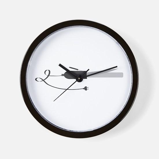 Curling Iron Wall Clock