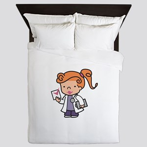 Girl Med Student Queen Duvet