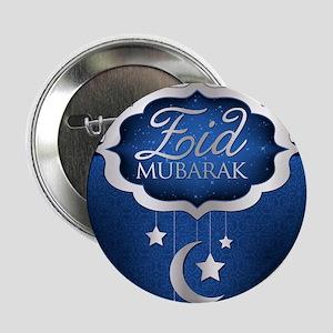 "Royal Blue Eid Mubarak 2.25"" Button"