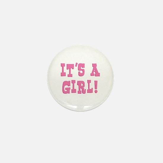 It's A Girl Mini Button