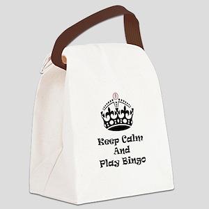 Keep Calm Play Bingo Canvas Lunch Bag
