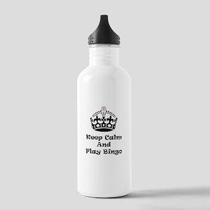 Keep Calm Play Bingo Water Bottle