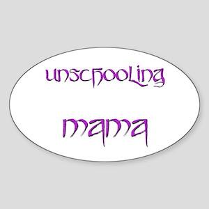 Unschooling Mama 2 Oval Sticker