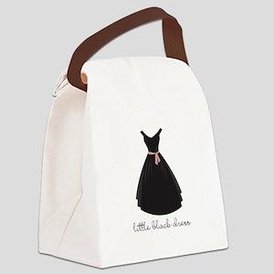little Black Dress Canvas Lunch Bag