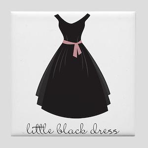 little Black Dress Tile Coaster
