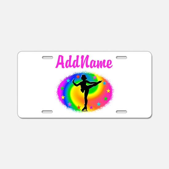 LOVE SKATING Aluminum License Plate