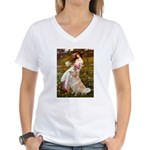 Windflowers / Golden Women's V-Neck T-Shirt