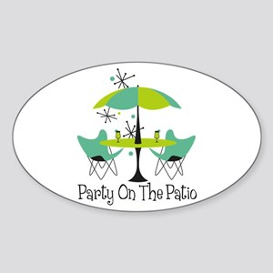 Party On The Patio Sticker