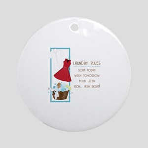 Laundry Rules Ornament (Round)