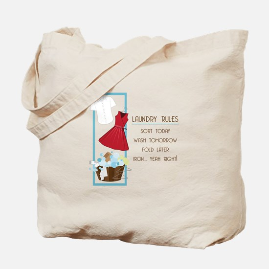 Laundry Rules Tote Bag