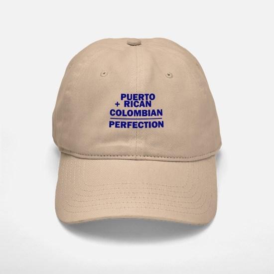 Puerto Rican + Colombian Baseball Baseball Cap