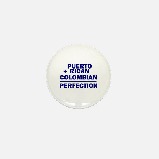 Puerto Rican + Colombian Mini Button