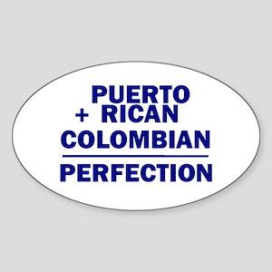 Puerto Rican + Colombian Oval Sticker