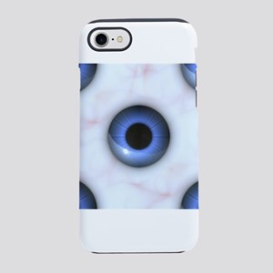 creepy blue eyes iPhone 7 Tough Case