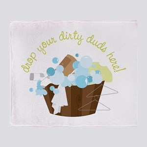 Drop Your Dirty Duds Here! Throw Blanket