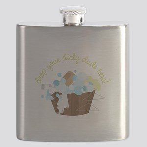 Drop Your Dirty Duds Here! Flask