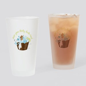 Drop Your Dirty Duds Here! Drinking Glass