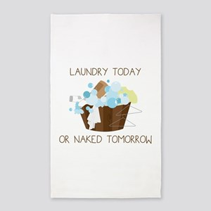 Laundry Today Or Naked Tomorrow 3'x5' Area Rug
