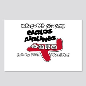 Carlos Airlines Postcards (Package of 8)