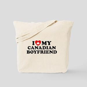 I Love My Canadian Boyfriend Tote Bag