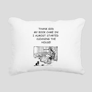 reader Rectangular Canvas Pillow