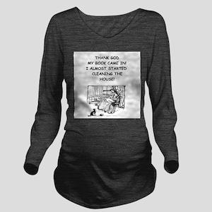 reader Long Sleeve Maternity T-Shirt