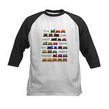Trains Baseball T-Shirt