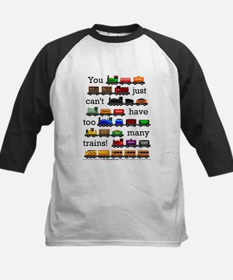 Too Many Trains Baseball Jersey