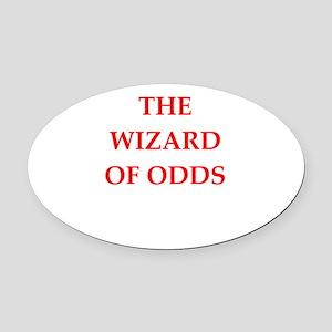 odds Oval Car Magnet