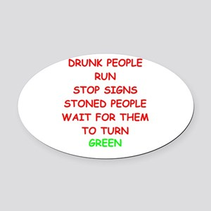 STONED Oval Car Magnet