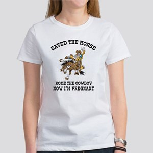 Pregnant Cowgirl Women's T-Shirt