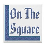 Masonic 'On The Square' Tile Coaster