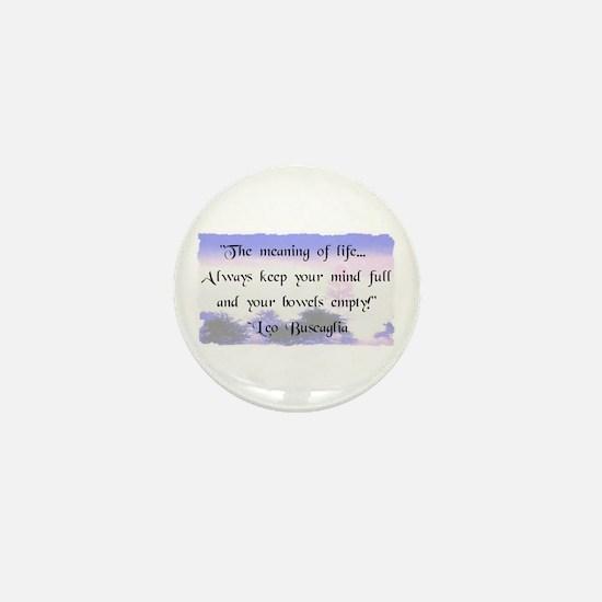 Bowels Empty Mini Button