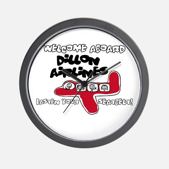 Dillon Airlines Wall Clock