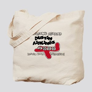Dustin Airlines Tote Bag