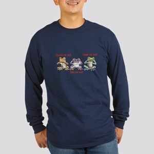 Three Frogs Long Sleeve Dark T-Shirt