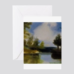 Islands of Blue Mountain Lake Greeting Cards