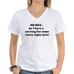 Need Curry NOW! Women's V-Neck T-Shirt