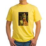 Ophelia & Golden Retriever Yellow T-Shirt