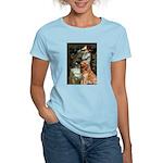 Ophelia & Golden Retriever Women's Light T-Shirt